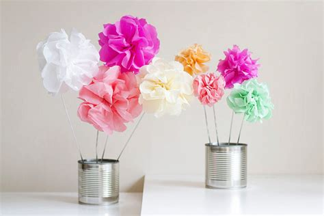 Make Your Own Paper Flowers - how to make crepe paper flowers