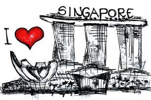 i love singapore digital art by sladjana lazarevic