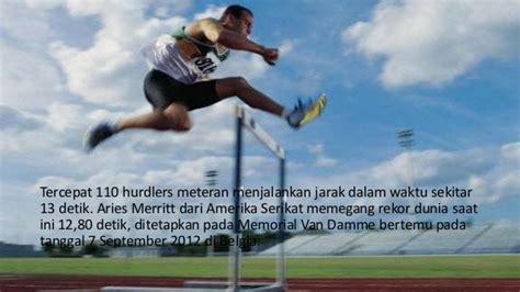 Meteran Kayu Amerika hurdles lari halang rintang