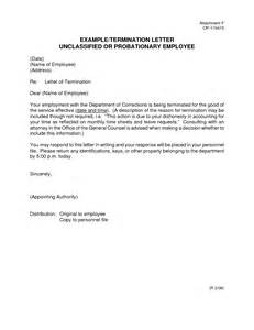 Exle Of Termination Letter To Employee by Best Photos Of Employee Probation Letter Sle Employee Probation Termination Letter 90 Day