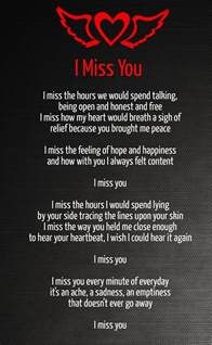 Missing You Love Poems for Her & Him with Pics