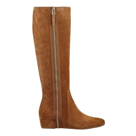 nine west malcet boots in brown brown suede lyst
