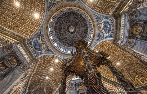 michelangelo cupola di san pietro la cupola michelangelo vista dalla navata centrale