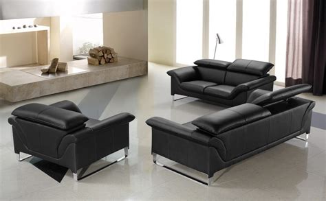 black sofa set elite modern black sofa set