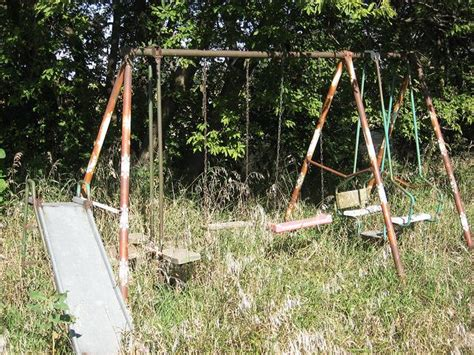 just swings swing set had a swing set just like this well not like that when i