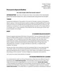 Persuasive Speech Writing Outline by Persuasive Speech Outline