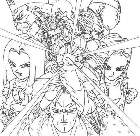 deviantart coloring pages dragon ball coloring pages deviantart coloring home