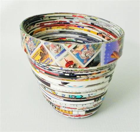 Paper Bowls - paper bowl oval rolled paper bowl handmade coiled paper