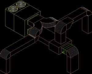 Bathroom Fan Duct Roof Top Duct In Autocad Drawing Bibliocad