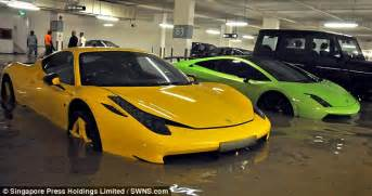 Flood Damaged Lamborghini For Sale Supercars Costing Millions Wrecked By Flash Flood In