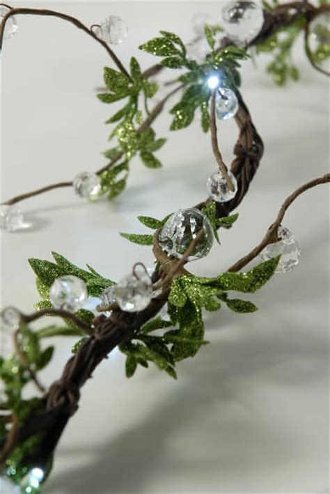 beaded string lights beaded led vine string lights with leaves 72 quot in