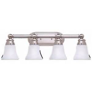 Home Depot Lighting Fixtures Bathroom Hton Bay 4 Light Brushed Nickel Bath Light 05382 The Home Depot