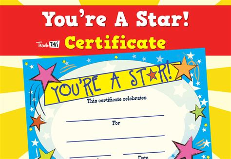 printable all star certificates the gallery for gt star student award printable