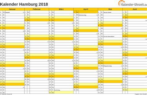 Kalender Mit Feiertagen 2018 Feiertage 2018 Hamburg Kalender