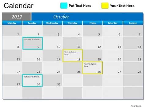 Template Powerpoint Calendar Search Results Calendar 2015 Calendar Template Powerpoint
