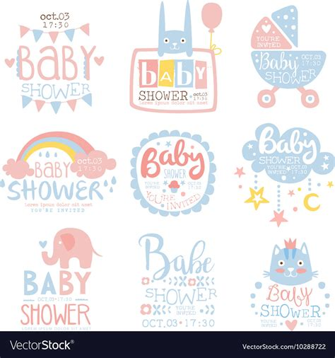 free pastel color card templates baby shower invitation template in pastel colors vector image