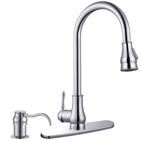 18 quot pull kitchen sink faucet with soap dispenser ebay