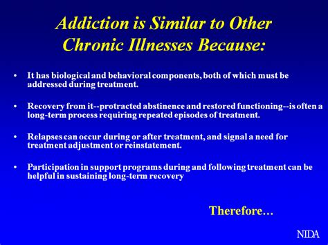 Addiction Detox Process by Addiction Resembles Other Chronic Diseases In More