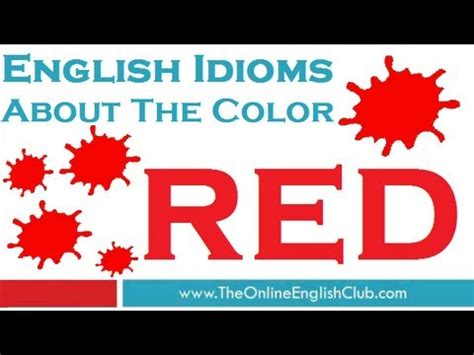 youtube red color english idioms color idioms red youtube