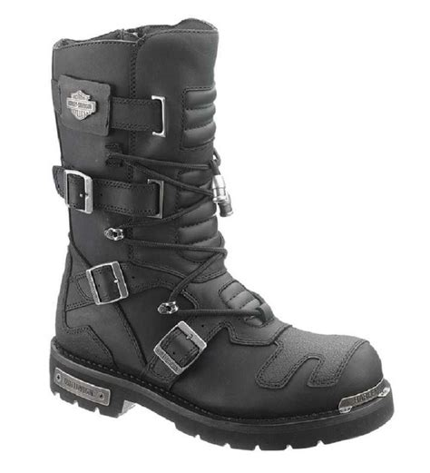 harley davidson s axel 10 inch black motorcycle boots