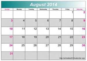 Monthly Calendar Templates 2014 by Printable 2014 Monthly Calendar Template Pictures To Pin