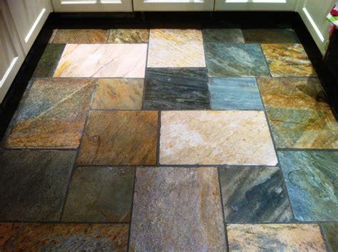 dirty quartzite tiled floor in a leeds kitchen west yorkshire tile doctor