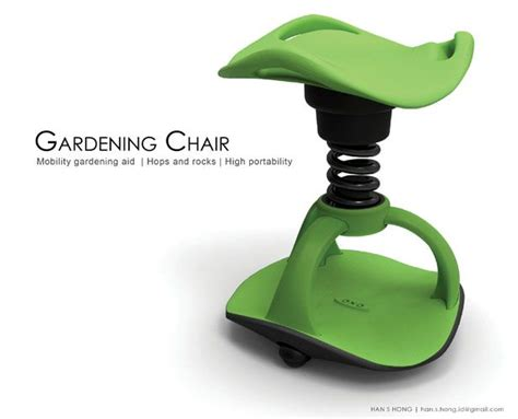 design concept tools gardening chair for elderly people modern industrial