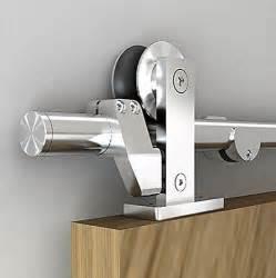 Best Barn Door Hardware Easy Install Top Mount Barn Door Hardware Stainless Steel Sliding Barn Track Kit Ebay