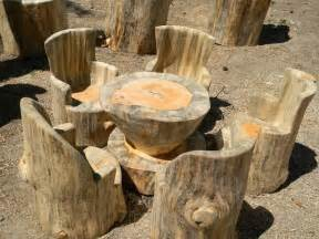 Tree Stump Bench Ideas Unique Furniture Made From Tree Stumps And Logs
