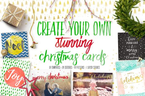 Design Your Own Christmas Cards Objects On Creative Market Make Your Own Cards Free Templates