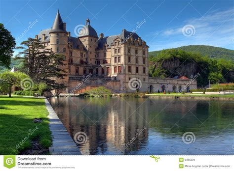 Mansion Plans by Chateau De Vizille 02 Near Grenoble France Royalty Free