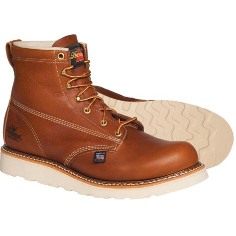 thorogood american heritage 6 quot h plain toe wedge sole boots