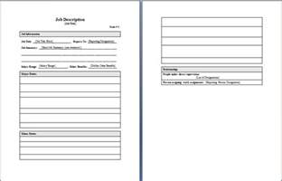 job description layout word documents amp templates