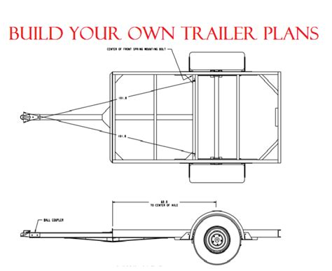 car trailer plans diy build plans