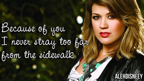 because of you kelly clarkson kelly clarkson because of you lyrics on screen hd youtube