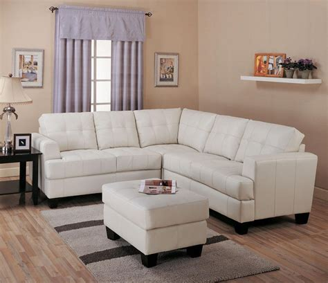 coaster sectionals samuel contemporary cream tufted leather sectional sofa