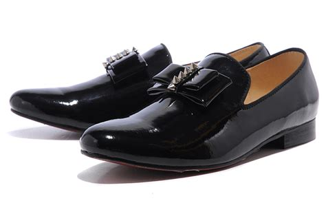 black christian louboutin dress shoes