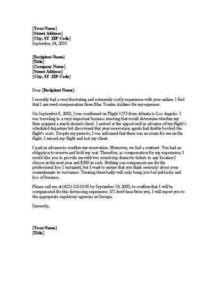 Complaint Letter To Property Developer