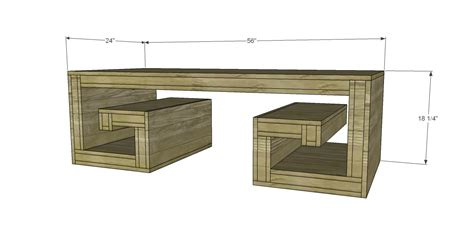 coffee table plans free free plans to build a horchow inspired key coffee table