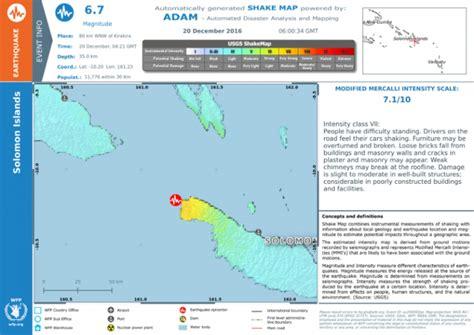 earthquake pdf earthquake in solomon islands shake map 20 dec 2016