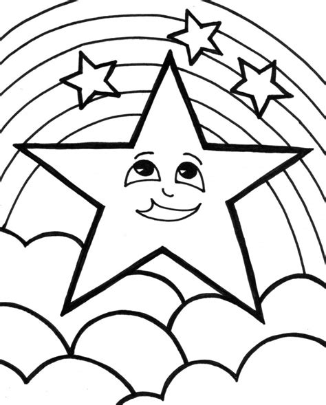 Stars Coloring Pages For Kids Coloringsuite Com Colouring Pictures For