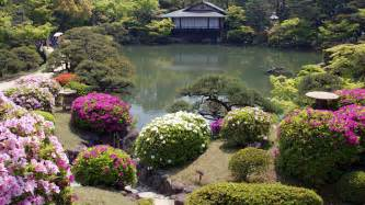 Flower Garden In Japan Japanese Garden Wallpaper Hd Flowers A Japanese Garden House