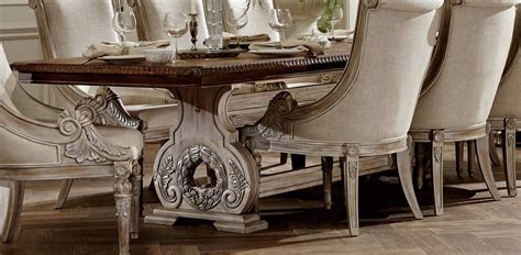 98 traditional dining room furniture sets orleans homelegance orleans ii trestle dining table white wash