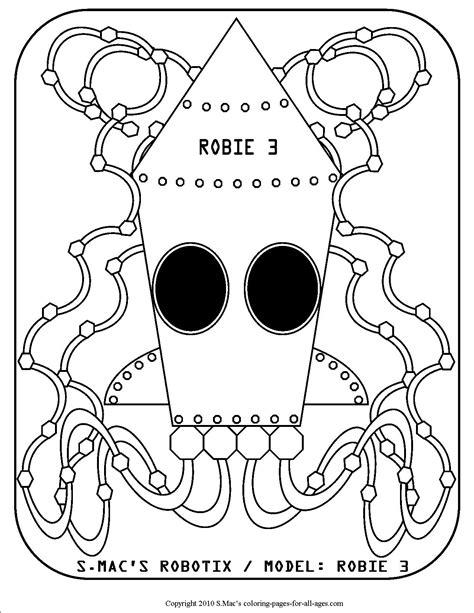 robot coloring pages smacs place