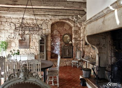 vintage french home decor remarkable stone wall of family and dining room which is
