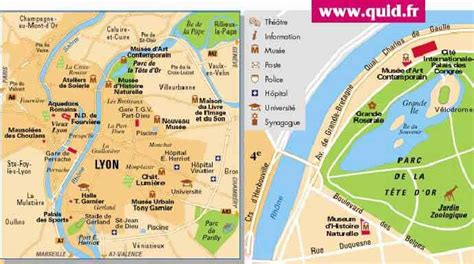 carte de lyon  ses arrondissements archives voyages