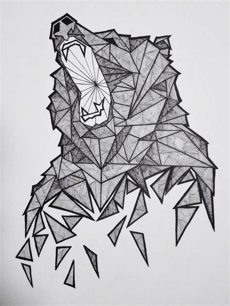 geometric bear tattoo 25 best ideas about geometric on