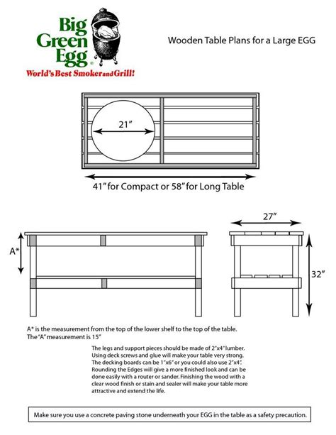 Big Green Egg Table Dimensions pdf woodwork large big green egg table dimensions diy plans the faster easier way