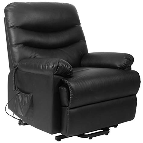 Heavy Duty Recliner Chair by Merax Power Recliner And Lift Chair In Black Pu Leather