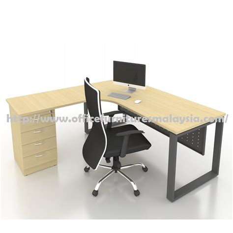 Office Table L 6ft X 5ft Office L Shaped Table With Drawer Office Furnitures Malaysia